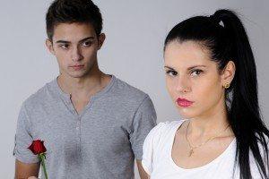 upset girl and boy