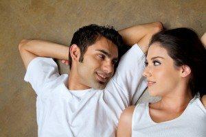 Romantic ethnic couple in love