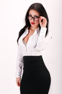 Portrait of sexy and confident business woman