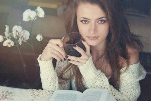 Beautiful Woman with Tea