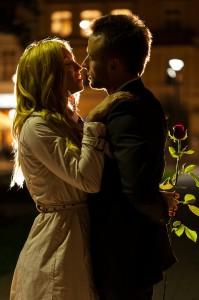Date night kiss