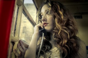 Girl at the phone
