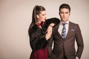 Elegant fashion couple posing