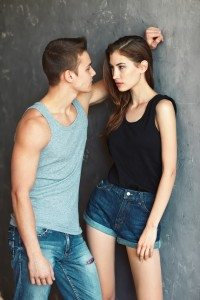fashion beautiful young couple