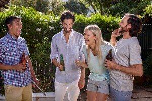 friends garden party