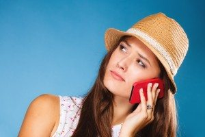 girl talking on mobile phone smartphone