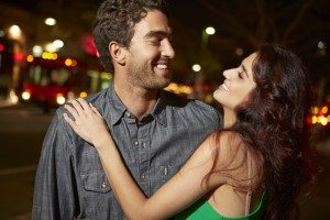 Couple Enjoying Night Out Together