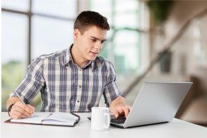 Laptop, student, boy.
